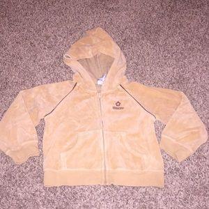 Oshkosh Cream Fleece ZipUp Sweater Hoodie